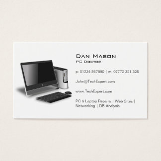 White PC Repair Guy Technology - Business Card