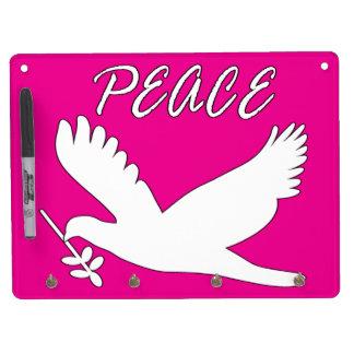 white peace dove Dry-Erase board