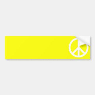 White Peace Sign Bumper Sticker