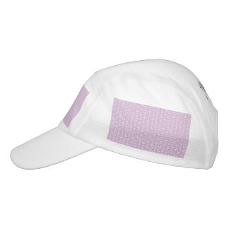 White Peace Signs on Pastel Lilac Hat