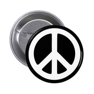 White Peace Symbol Template 6 Cm Round Badge