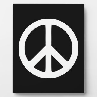 White Peace Symbol Template Display Plaque