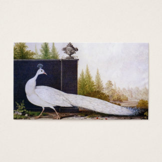 White Peacock Business Card