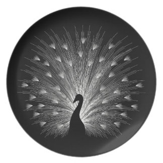 White peacock plate