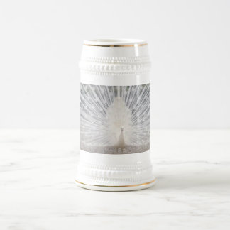 White Peacock - White 18 oz Stein