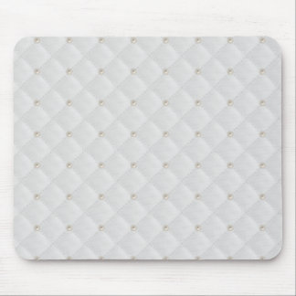White Pearl Stud Quilted Mouse Pad