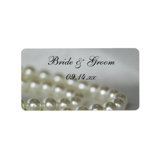 White Pearls Wedding Favour Tags