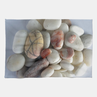 white pebbles kitchen towels