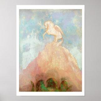 White Pegasus, c.1908 (oil on canvas) Poster