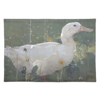 White Pekin Duck Bird Animal Meadow Placemat