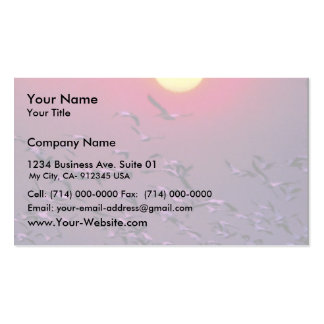 White Pelican in Haze Business Cards