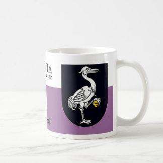 White Pelican w/ Gold Stone from Grobiņa Latvia Coffee Mug