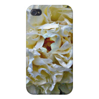 White Peony Case Cover For iPhone 4