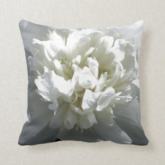 White Peony Cushion