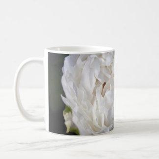 White Peony - Floral Photography - Basic White Mug