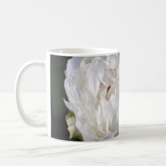 White Peony Floral Photography Mug