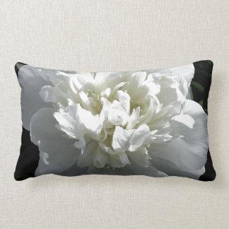 White Peony Lumbar Cushion