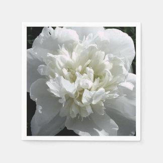 White Peony Paper Napkin