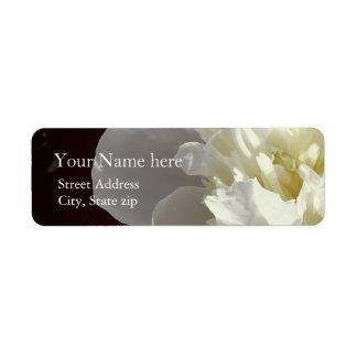 White Peony Return Address Label