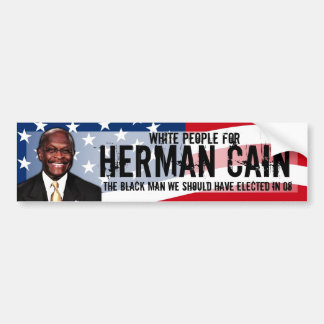 White People for Herman Cain Decal Bumper Sticker