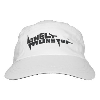 White Performance Hat with Black Logo