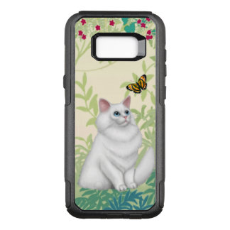 White Persian Cat and Butterfly Samsung Galaxy Cas OtterBox Commuter Samsung Galaxy S8+ Case