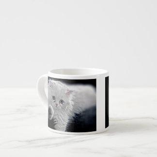 White Persian Kitten Espresso Cup