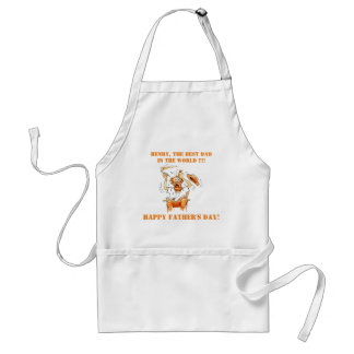 White Personalized Funny Fathers Day Aprons