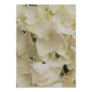 White Petals Hydrangea Invitation