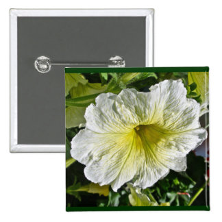 White Petunia Series Coordinating Items Button