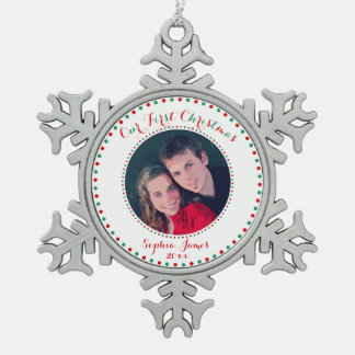 White Pewter First Christmas Together Ornament