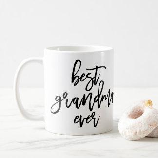 White Photo Best Grandma Ever Handwritten Script Coffee Mug