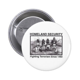 White Photo Indian Homeland Security 6 Cm Round Badge