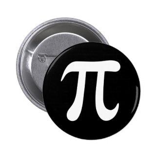 White pi symbol on black background pin