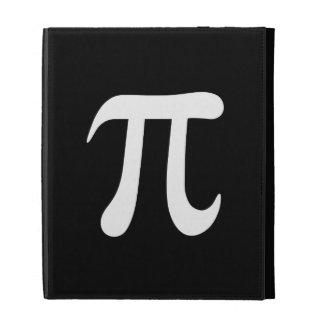 White pi symbol on black background iPad folio case
