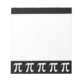White pi symbol on black background scratch pads