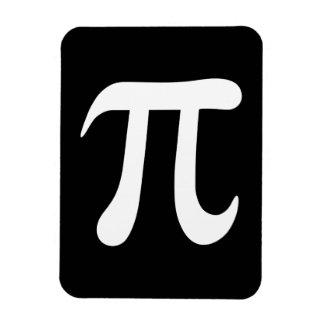 White pi symbol on black background rectangle magnet
