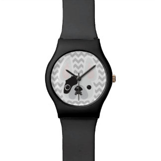 White Pied Frenchie Watch