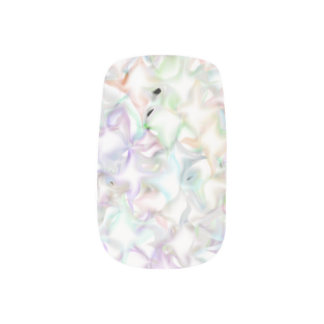 White Pillowy Nail Decals