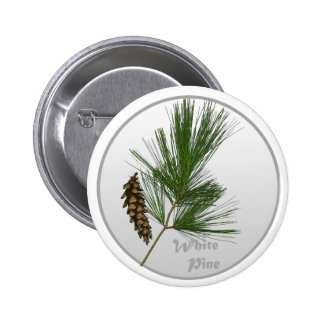 White Pine Tree 6 Cm Round Badge