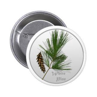 White Pine Tree 6 Cm Round Badge