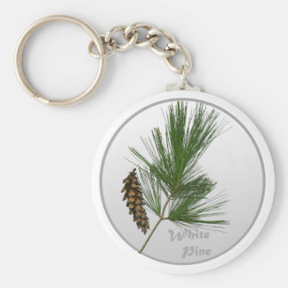 White Pine Tree Key Ring