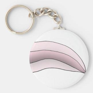 White/Pink Axolotl Tail Key Ring