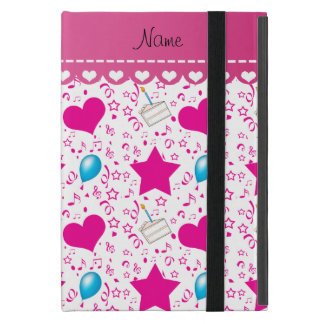 White pink birthday cake balloons hearts stars iPad mini covers