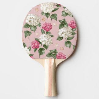 White pink Hydrangea floral seamless pattern