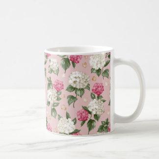 White pink Hydrangea floral seamless pattern Coffee Mug