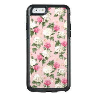White pink Hydrangea floral seamless pattern OtterBox iPhone 6/6s Case