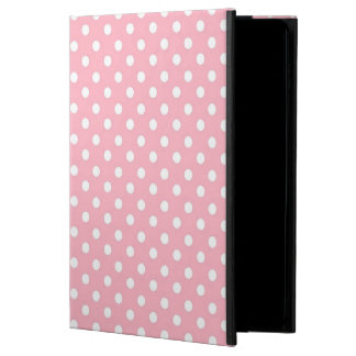 White Pink polka dot pattern iPad Air 2 case