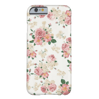 White & Pink Vintage Floral iPhone 6 case Barely There iPhone 6 Case