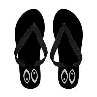 White Pisces Zodiac Symbol Sandals